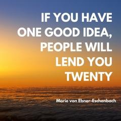 One good idea